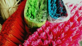 Brooms. Of various colors Royalty Free Stock Photos