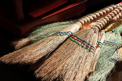 Brooms which is sold in a market Stock Photography