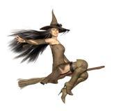 Broomstick ведьмы Стоковое фото RF