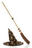 broomstick kapeluszu czarownicy Zdjęcia Stock