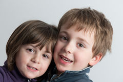 Bros portrait Royalty Free Stock Photos