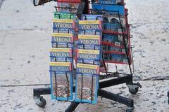 Broschüre der touristischen Reise von Verona-Stadt, Nord-Italien lizenzfreies stockfoto