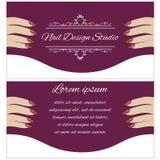 Broschüre für Schönheitssalon Lizenzfreie Stockfotografie