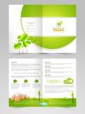 Broschüre, Flieger oder Schablone für eco Konzept Lizenzfreies Stockfoto