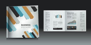 Broschüre, Jahresberichtplan Lizenzfreies Stockbild