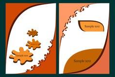 Broschüre mit abstraktem Design Stockfoto