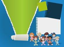 Broschüre mit Kindern Stockbilder