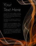 Broschüre, Plakat oder Flieger mit schwarzem Hintergrund und orange Farbe Lizenzfreies Stockbild