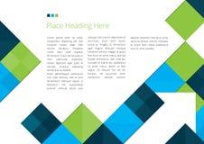 Broschüren-Design mit Quadraten Lizenzfreies Stockfoto