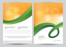 Broschüren-Flieger-Plan-Schablone des Geschäfts-A4 Lizenzfreies Stockbild
