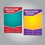 Broschüren-Fliegerdesign Lizenzfreie Stockfotografie