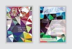 Broschüren-FliegerEntwurfschablone in der Größe A4 mit digitalem MA Stockfotos