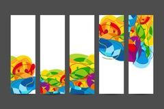 Broschüren mit abstraktem Hintergrund Stockfoto