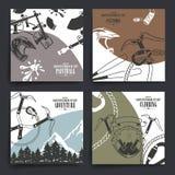 Broschüren- oder Fliegerdesign Extremes Sportthema stockfoto
