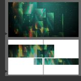 Broschüren-Schablonen-Design. Stockbild