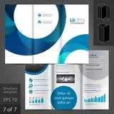 Broschüren-Schablonen-Design Lizenzfreie Stockbilder
