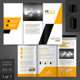 Broschüren-Schablonen-Design Lizenzfreies Stockfoto