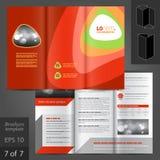 Broschüren-Schablonen-Design Stockfoto