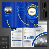 Broschüren-Schablonen-Design Stockbild