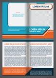 Broschüren-Schablonendesign des Vektors leeres mit blauem und orange eleme Lizenzfreie Stockfotografie