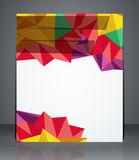 Broschüren-Titelseite des geometrischen Designs, Flieger oder Plakat Stockbilder
