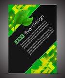 Broschürenabdeckung des Geschäfts A4 mit ökologischem Muster Lizenzfreies Stockfoto