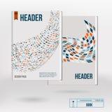 Broschürenabdeckungs-Designschablonen des Vektors kreative Lizenzfreies Stockbild