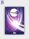 Broschürenabdeckungsdesign in A4 Lizenzfreie Stockbilder