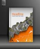 Broschürendesignschablone in niedrigem Poly A4 Vektor Lizenzfreie Stockbilder