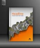 Broschürendesignschablone in niedrigem Poly A4 Vektor Stockfotos