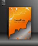 Broschürendesignschablone in niedrigem Poly A4 Vektor Lizenzfreie Stockfotografie