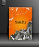 Broschürendesignschablone in niedrigem Poly A4 Vektor Stockbild