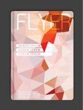 Broschürendesignschablone polygonal Stockfoto