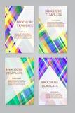 Broschürendesignvektor-Schablonensatz Stockbilder