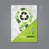 Broschürenflieger des Grüns bereiten Energie a5 auf Lizenzfreies Stockfoto