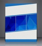 Broschürenflieger-Polygondesign in der Größe A4, Planabdeckungsdesign Lizenzfreies Stockbild