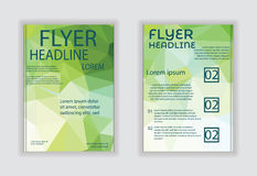 Broschürenfliegervektor-Designillustration Lizenzfreie Stockfotografie