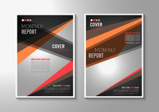 Broschürenschablone, Flieger-Design oder Depliant-Abdeckung für Geschäft stock abbildung