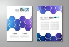 Broschürenschablone, Flieger-Design oder Depliant-Abdeckung für Geschäft vektor abbildung