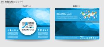 Broschürenschablone, Flieger-Design oder Depliant-Abdeckung für Geschäft p vektor abbildung