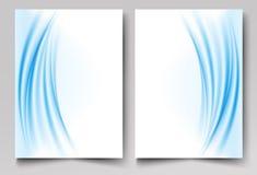 Broschürenschablone, Jahresbericht, Flieger, Zeitschrift Darstellungen, Werbung, Newsletter stock abbildung
