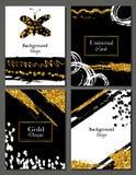 Broschürenschablonen-Designsatz mit Bürstenanschlag Vektorillustration Stockfoto