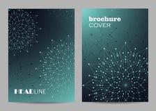 Broschürenschablonen-Plandesign Abstrakter geometrischer Hintergrund mit verbundenen Linien und Punkten lizenzfreie stockfotos
