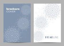 Broschürenschablonen-Plandesign Abstrakter geometrischer Hintergrund mit verbundenen Linien und Punkten stockfotos