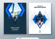Broschürenschablonen-Plandesign Firmenkundengeschäftjahresbericht, Katalog, Zeitschrift, Fliegermodell Kreatives modernes lizenzfreie abbildung