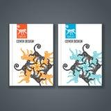 Broschürenschablonenplan, Abdeckungsdesign des Jahresberichts, Buch, Zeitschrift Lizenzfreies Stockfoto