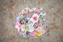 Broschen-Brautblumenstrauß Stockfotos