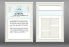 Broschyr broschyr, materiell design för häftestil stock illustrationer