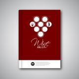 Broschyr för räkning för mall för vinmenydesign, kort Arkivbilder