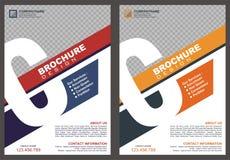 Broschyr med räkningen för stil för logo för ` för bokstavs` C stock illustrationer